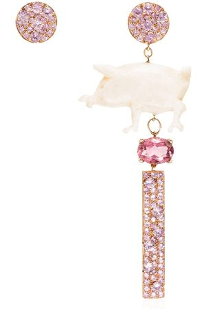 Francesca Villa 18kt and sapphire earrings
