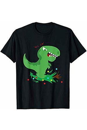 BCC Santa's Christmas Shirts & Jolly Gifts T-Rex Hates Christmas X-Mas Tree Lights Decoration Dinosaur T-Shirt