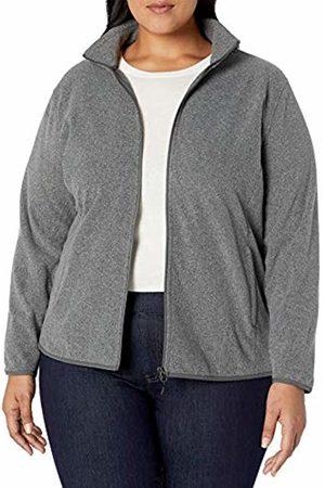 Amazon Plus Size Full-zip Polar Fleece Jacket Charcoal Heather