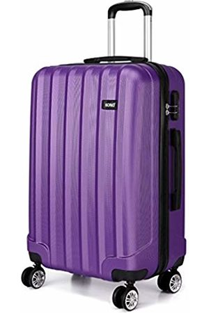 Small, Black Kono 20 Hand Luggage Lightweight Hard Shell PC+ABS Suitcase 4 Spinner Wheels 360 Degree Rolling Cabin