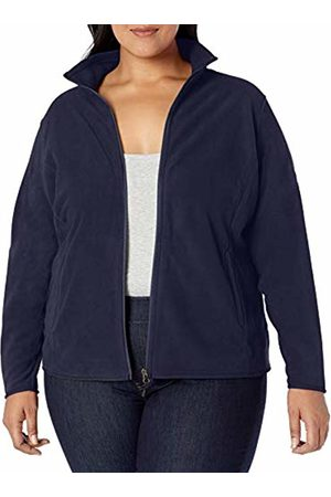 Amazon Plus Size Full-zip Polar Fleece Jacket Navy