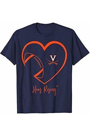 FanPrint Virginia Cavaliers Football Inside Heart - Team T-Shirt