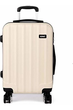 "Kono 20"" Cabin Hand Luggage Super Lightweight ABS Suitcase 4 Wheels Spinner Luggage Vertical Strip Travel Trolley Case ( 20"")"