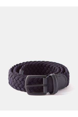 Anderson's Men Belts - Woven Elasticated Belt - Mens - Navy