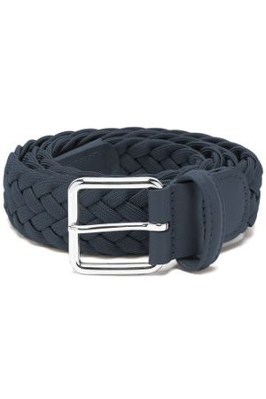 Anderson's Woven Elasticated Belt - Mens - Navy