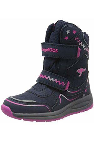KangaROOS Unisex Kids' K-Plush RTX Snow Boots, ((Dk Navy/Daisy 4204)