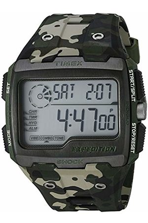 Timex Men's Grid Shock LCD Dial with a Camo Resin Strap Watch TW4B02900