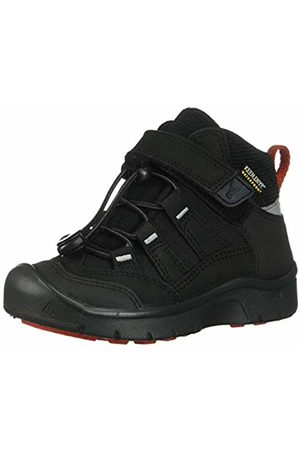 Keen Unisex Kids' Blk/red High Rise Hiking Shoes