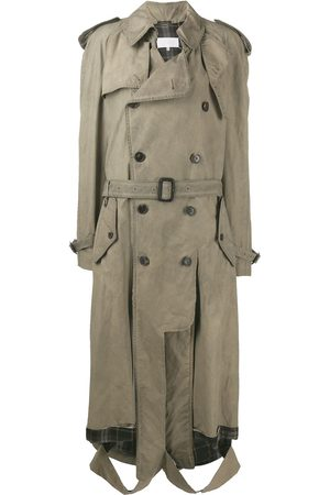 Maison Margiela Ripped hem trench coat - NEUTRALS