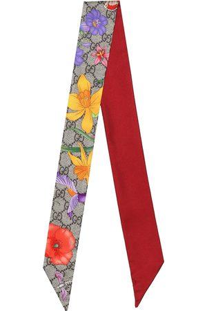 Gucci GG Flora silk neck tie