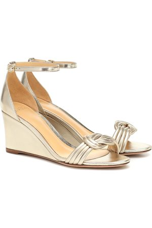ALEXANDRE BIRMAN Vicky 75 metallic leather sandals