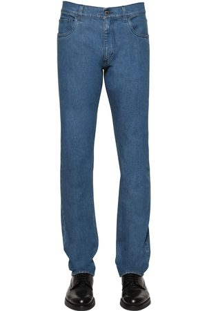 Prada 19cm Tapered Cotton Denim Jeans