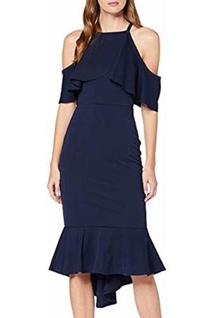 Quiz Women's Cold Shoulder Frill MIDI Dress with Fishtail Party