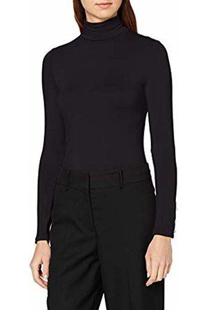 Dorothy Perkins Women's Viscose high Neck Plain top. Long Sleeve