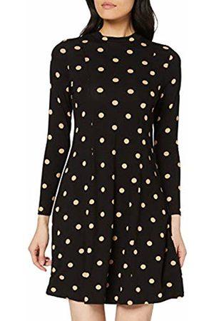 Dorothy Perkins Women's Ochre Spotted Jersey Fit & Flare Dress