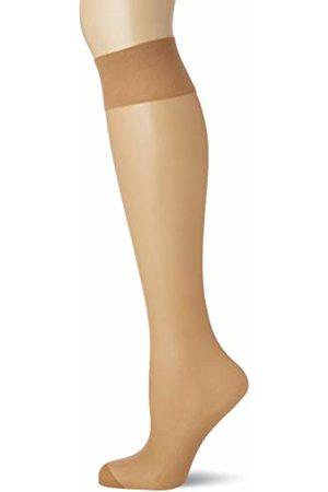 Pretty Polly Women's 15D Comfort Top Knee Highs 3PP Socks, 15 DEN
