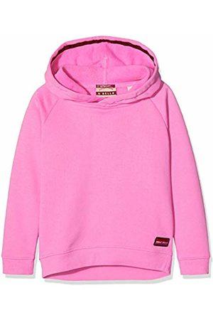 Scotch&Soda Girl's Longer Length Hoody with Placed Artworks Sweatshirt