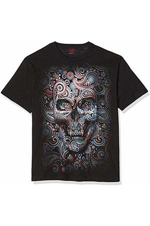 Spiral Women's Skull Illusion-Front Print T-Shirt