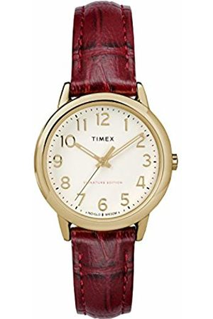 Timex Womens Analogue Classic Quartz Watch with Leather Strap TW2R65400