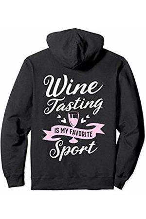 Funny Wine Lover Gift Items Clothing & Apparel Wine Tasting Is My Favorite Sport Girls Trip Vintner Funny Pullover Hoodie