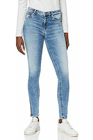 Tommy Jeans Women's Mid Rise Skinny Nora 7/8 Zip Orl Straight Jeans