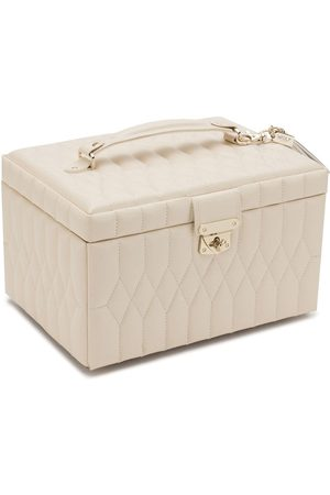 Wolf Quilted jewellery box - Neutrals