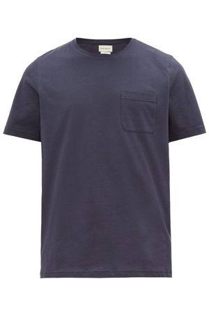 OLIVER SPENCER Oli Organic-cotton Jersey T-shirt - Mens - Navy