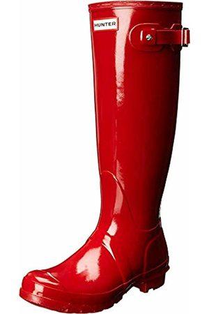 Hunter WOMENS ORIGINAL TALL GLOSS Wellington Boots, Military Mlr)