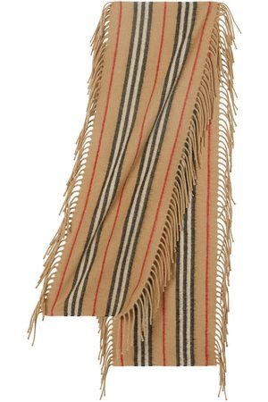 Burberry Fringed Icon stripe scarf - Neutrals