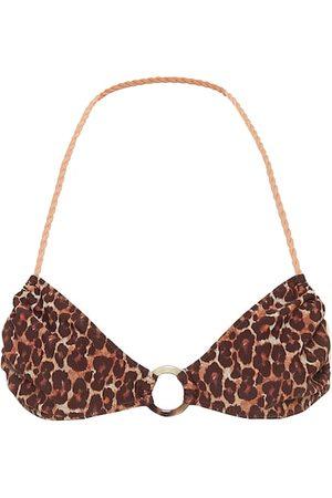Tropic of C Lira leopard-print bikini top