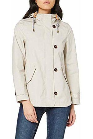 Joules Women's Coast Rain Jacket, Off- Ivory