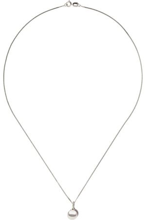 Yoko London Women Necklaces - 18kt white gold Classic freshwater pearl and diamond pendant necklace - 7