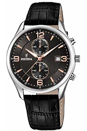 Festina Mens Chronograph Quartz Watch with Leather Strap F6855/7