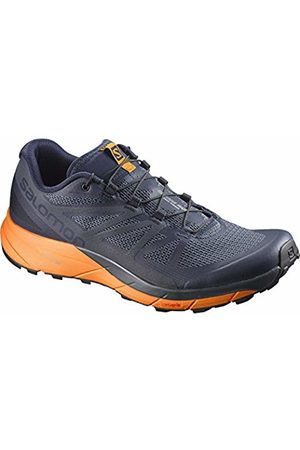 Salomon Men's Sense Ride Trail Running Shoes, (Navy Blazer/Bright Marigold/Shadow B 000)