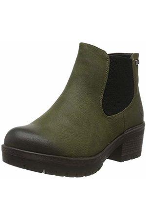 Rieker Women's Herbst/Winter Chelsea Boots, (Tanne 54)