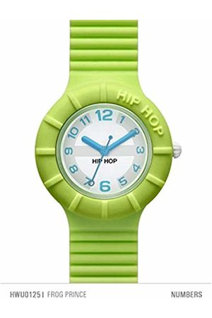 Hip Watches - Women's Frog Prince Watch HWU0125 - Collection Numbers Collection - Silicone Strap - 32mm Case - Waterproof - Green