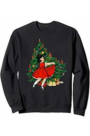 Merry Christmas Co. Vintage Christmas Tree and Dancing Girl Sweatshirt