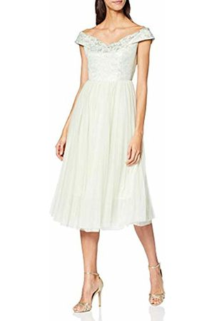 Louche Women's Chance-Tulle Asymmetrical|#239 Floral Sleeveless Party Dress
