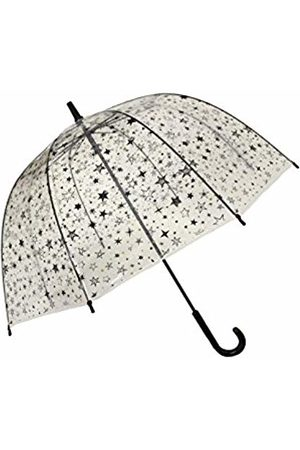 SMATI Kids Umbrellas Girls Stick Birdcage Clear Dome See Through Transparent (Stars)