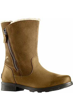 sorel Women's Emelie Foldover Boots, (Camel )