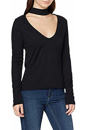 Boohoo Women's Melanie Cut Out High Neck Knitted Plain Long Sleeve Blouse