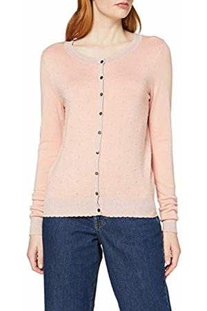 Vero Moda Women's Vmmontclair Ls O-Neck Cardigan (Rose Cloud Pattern: Lurex)