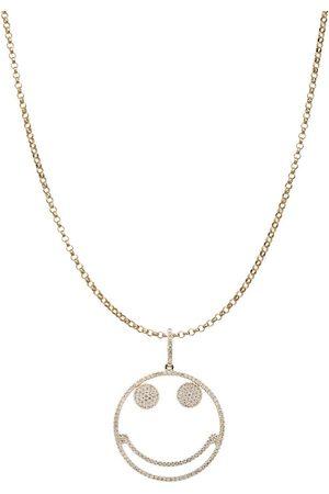 ROSA DE LA CRUZ Women Necklaces - 25mm Smile Pendant On 42cm Chain