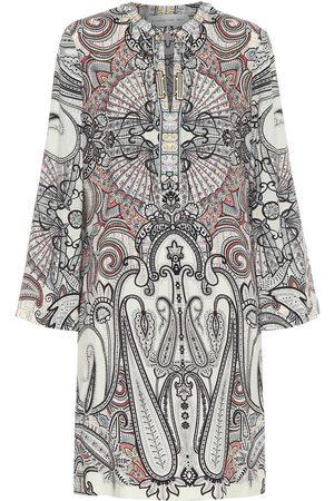 Etro Printed wool and silk mini dress