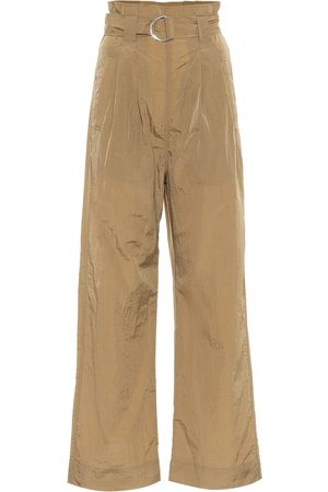 Ganni Tech high-rise straight pants