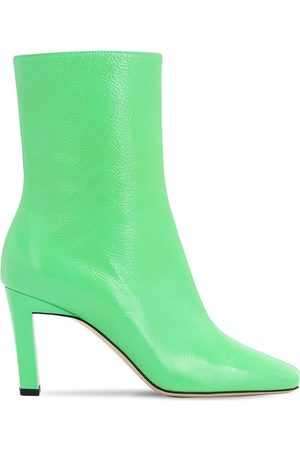Wandler 85mm Isa Patent Leather Boots