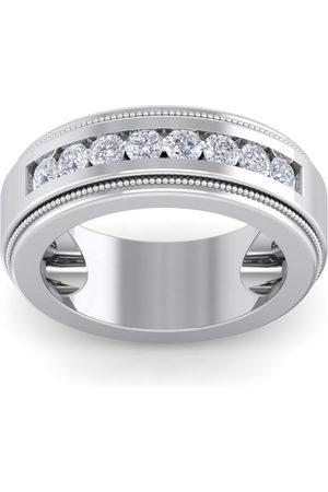SuperJeweler 1 Carat Men's Diamond Wedding Band Ring in 14K (20 g), H-I, 9mm Wide, Size 7