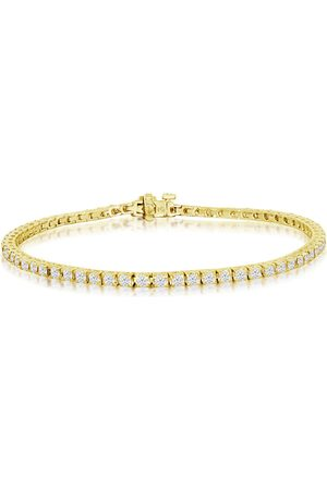 SuperJeweler 8 Inch 3.42 Carat Diamond Men's Tennis Bracelet in 14K (11.5 g), I/J