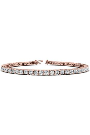 SuperJeweler 8.5 Inch 14K Rose 3 2/3 Carat Diamond Men's Tennis Bracelet, J/K