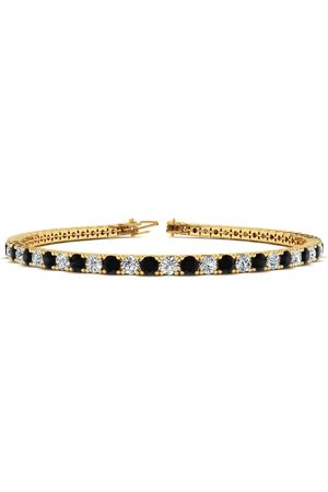 SuperJeweler 7.5 Inch 2 3/4 Carat Black & White Diamond Men's Tennis Bracelet in 14K (10 g), J/K